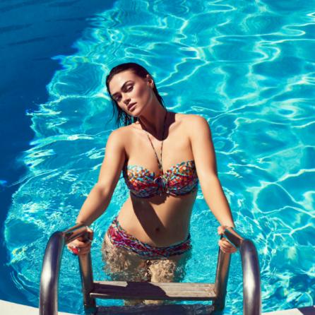 Copa Bikini Sin Tirantes, Con Relleno y Aro, Vegas, Primadonna Swim. Verano 2019