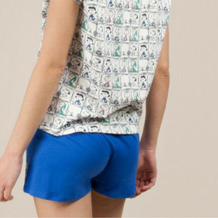 Pijama algodón Snoopy con camiseta estampada, Gisela