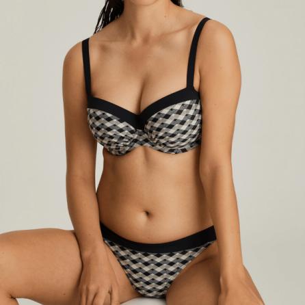 Conjunto Bikini Assilah, copa balconet preformada y braga de lazo, Primadonna Swim. Verano 2020