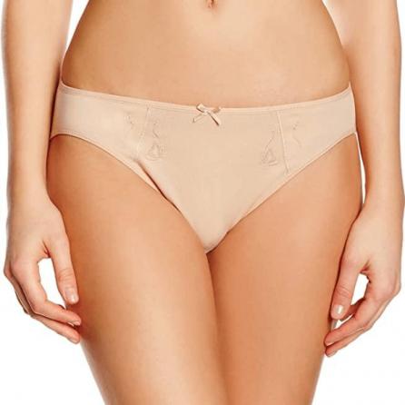 Braga Bikini 95% algodón con bordado, Even Arena Frontal