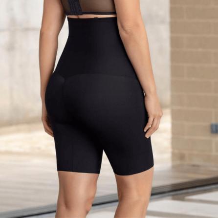 Faja Pantalón Reductor con Tirantes, Control Moderado, Leonisa Negro Espalda