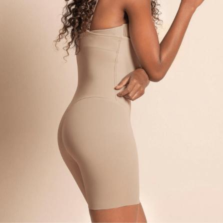 Faja Pantalón Reductor con Tirantes, Control Moderado, Leonisa Nude Lateral