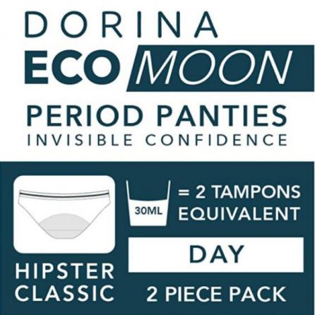 Pack x2 Bragas Menstruales Día, Eco Moon, Dorina