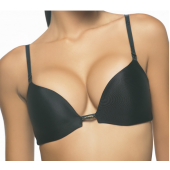 Sujetador Doble Push Up Negro, Miracle de Luna.