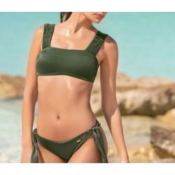 Conjunto bikini espalda acordonada y braga lazo, Leonisa
