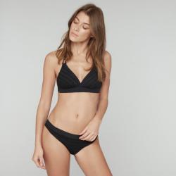 Conjunto Bikini copa triángulo sin relleno sin aro con hilo plateado, Lou