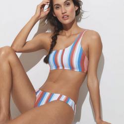 Conjunto bikini SunBeam Lines con copa preformada y braga bikini, Triupmh