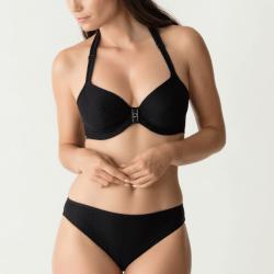 Conjunto Bikini Negro Canyon, copa entera y braga, Primadonna Swim. Verano 2019