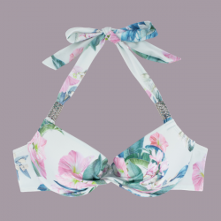 Copa bikini estampado flores sin relleno, PARADISE COVE, DORINA