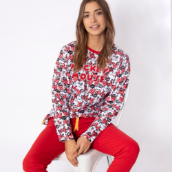 Pijama de Algodón Minnie y Mickey Mouse, Disney