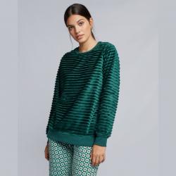 Pijama Terciopelo verde oscuro, Gisela