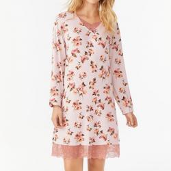 Camisón de estampado floral con encaje, Promise