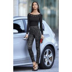 Legging Efecto Vientre Plano, modelo Slimmer Boutique Flores, Janira.