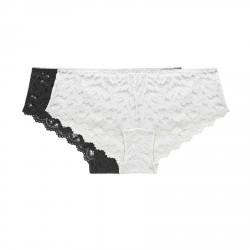 Pack x2 Culottes de Encaje blanco/negro, Variance