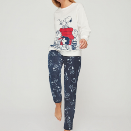 Pijama Snoppy blanco, GISELA.