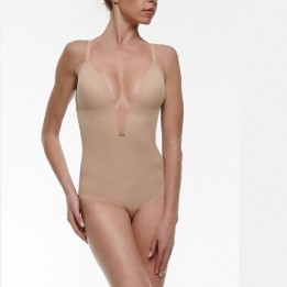 Body de Novia Invisible Sin Espalda con Super Escote Delantero, Ivette.