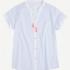 Pijama de algodón y rayas con cuello mao, Gisela