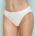 Braga Bikini 95% algodón con bordado, Even Blanco Frontal